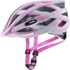 UVEX Air Wing CC Helm Kinder grey/rose matt